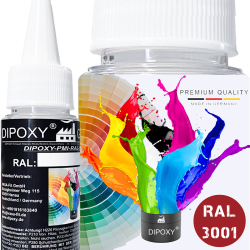 150g Dipoxy-PMI-RAL 3001 SIGNALROT Extrem hoch...