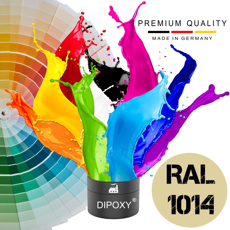 Dipoxy-PMI-RAL 1014 IVORY Extremely highly concentrated base pigment color paste colorant for epoxy resin, polyester resin, polyurethane systems, concrete, paints, liquid paint synthetic resin jewelry