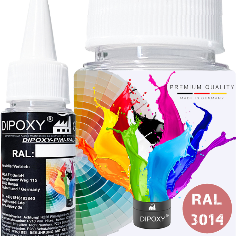 Dipoxy-PMI-RAL 3014 OLD PINK Extremely highly concentrated base pigment color paste colorant for epoxy resin, polyester resin, polyurethane systems, concrete, paints, liquid paint synthetic resin jewelry