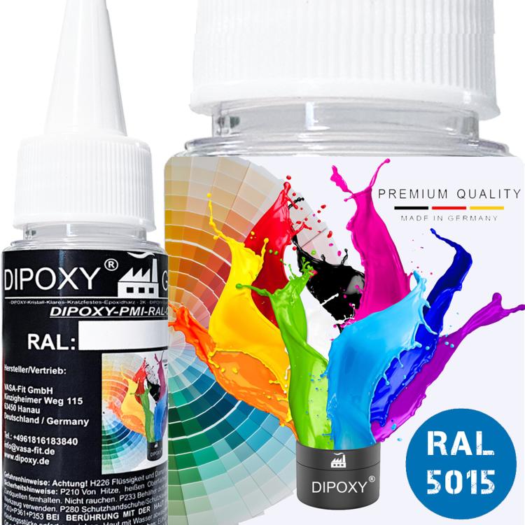 Dipoxy-PMI-RAL 5015  - Pasta colorante a base estremamente concentrata, per resina epossidica, resina di poliestere, sistemi di poliuretano, calcestruzzo, vernici, vernice liquida, resina…