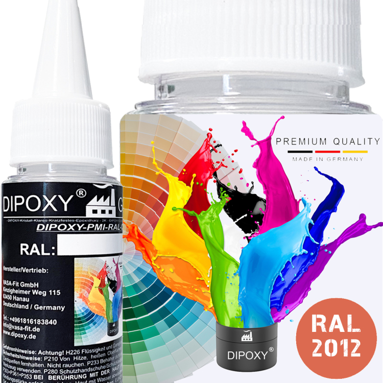 Dipoxy-PMI-RAL 2012- Pasta colorante a base estremamente concentrata, , per resina epossidica, resina di poliestere, sistemi di poliuretano, calcestruzzo, vernici, vernice liquida, resina…