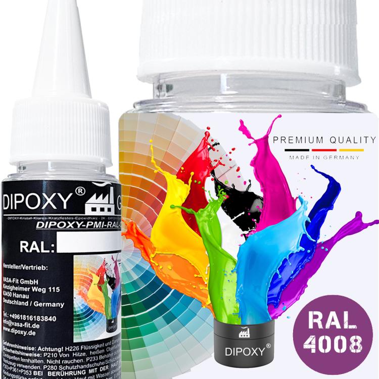 Dipoxy-PMI-RAL 4008 SIGNALVIOLETT Extrem hoch konzentrierte Basis Pigment Farbpaste Farbmittel für Epoxidharz, Polyesterharz, Polyurethan Systeme, Beton, Lacke, Flüssigfarbe Kunstharz Schmuck