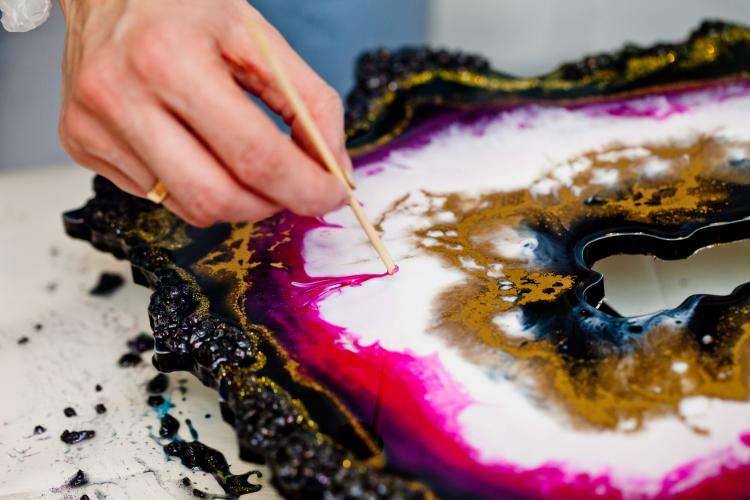Dipoxy-PMI-RAL 7031 Pâte à base de pigment très concentrée pour résine époxy et résine de polyester, systèmes de polyuréthane, béton, vernis, peinture liquide en résine liquide, bijoux