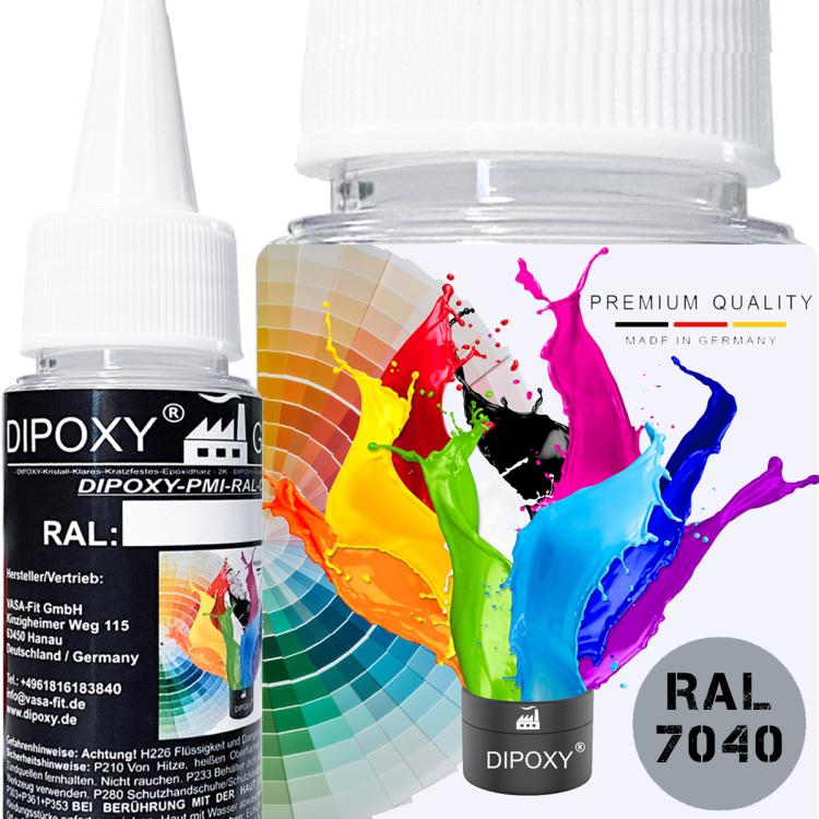 Dipoxy-PMI-RAL 7040 Pâte à base de pigment très concentrée pour résine époxy et résine de polyester, systèmes de polyuréthane, béton, vernis, peinture liquide en résine liquide, bijoux