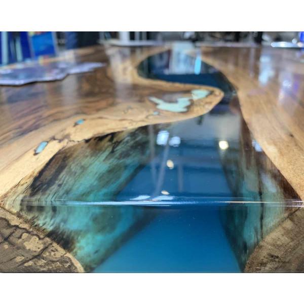 7,5kg Epoxidharz + 100g Effekt-Pigment-Blau 01 Gießharz Epoxy Tisch Boden Blue
