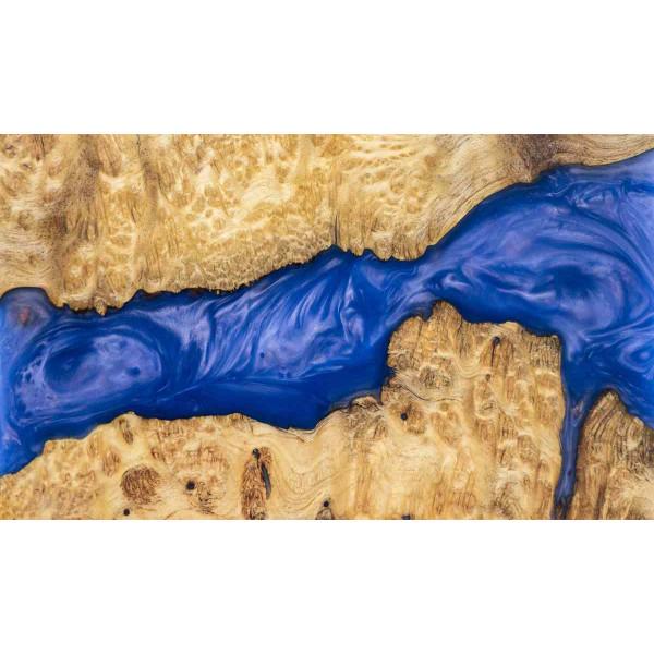 Epoxidharz +10g Effekt-Pigment-Blau 06 Gießharz Epoxy Tisch Boden Blue
