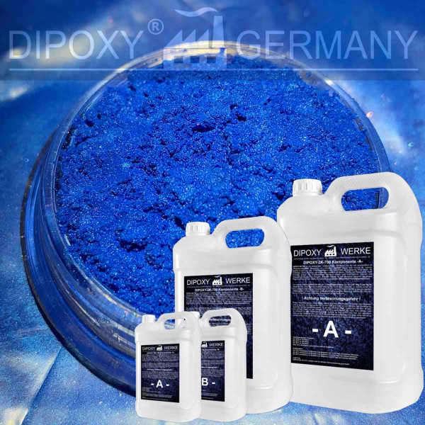 Epoxidharz +10g Effekt-Pigment-Blau 09 Gießharz Epoxy Tisch Boden Blue