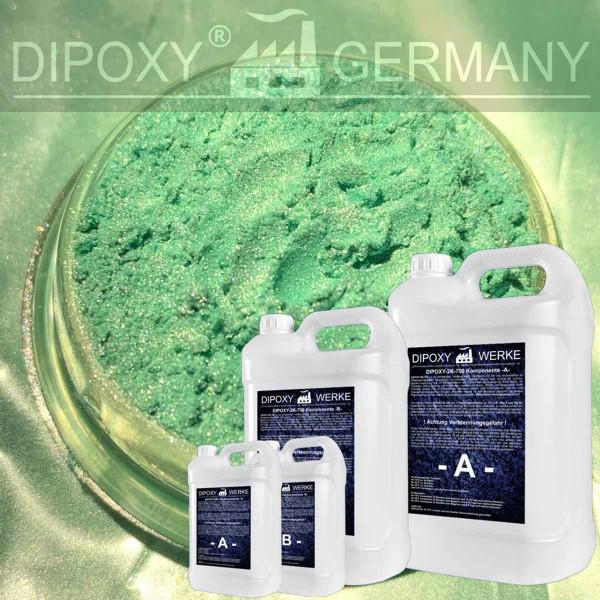 Epoxidharz +10g Effekt-Pigment-Grün 04 Gießharz Epoxy Tisch Boden Green