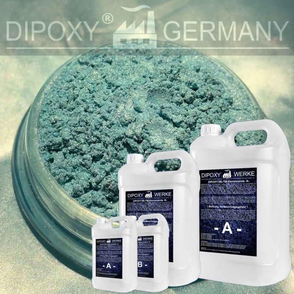 Epoxy Resin + 10g Effect-Pigment-Green 05 resin Epoxy Table Floor Green