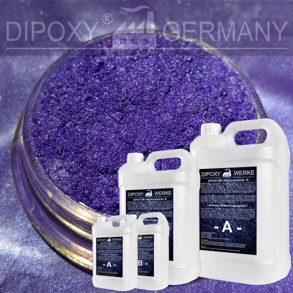 Epoxidharz +10g Effekt-Pigment-Lila 03 Gießharz Epoxy Tisch Boden Purple