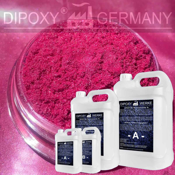 Epoxy Resin + 10g Effect-Pigment-Pink 01 resin Epoxy Table Floor Pink