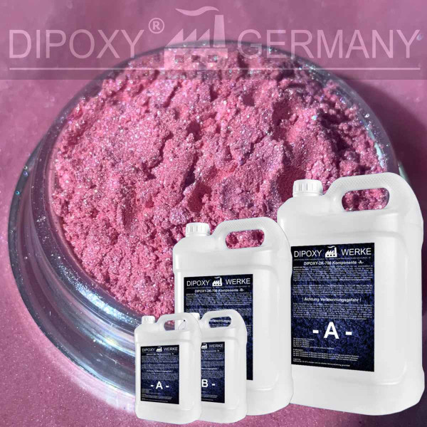 kg Epoxy Resin + 10g Effect-Pigment-Pink 02 resin Epoxy Table Floor Pink