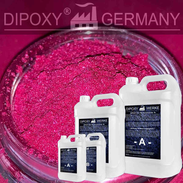 Epoxy Resin + 120g Effect-Pigment-Pink 03 resin Epoxy Table Floor Pink