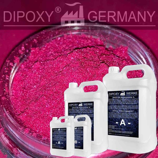 Epoxidharz +10g Effekt-Pigment-Pink 03 Gießharz Epoxy Tisch Boden Pink