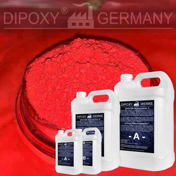 Epoxidharz +10g Effekt-Pigment-Rot 02 Gießharz Epoxy Tisch Boden Red