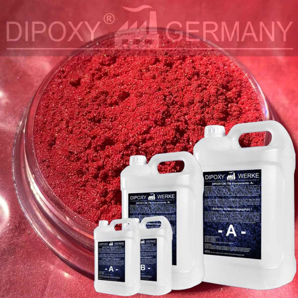 Epoxidharz +10g Effekt-Pigment-Rot 03 Gießharz Epoxy Tisch Boden Red