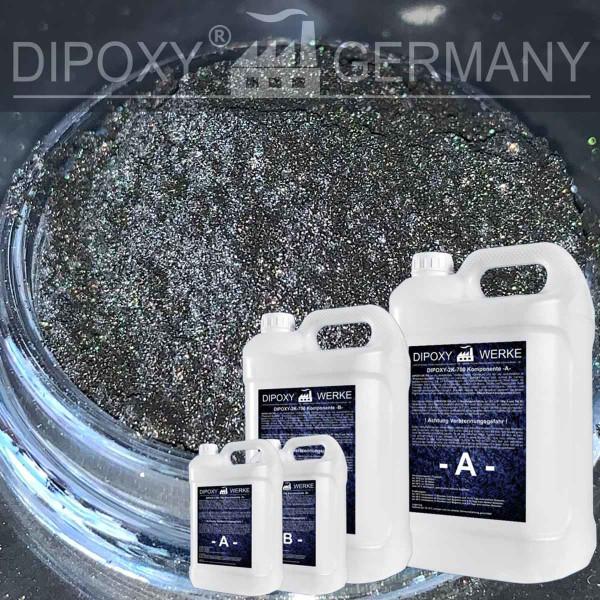 Epoxidharz +10g Effekt-Pigment-Schwarz 01 Gießharz Epoxy Tisch Boden Black