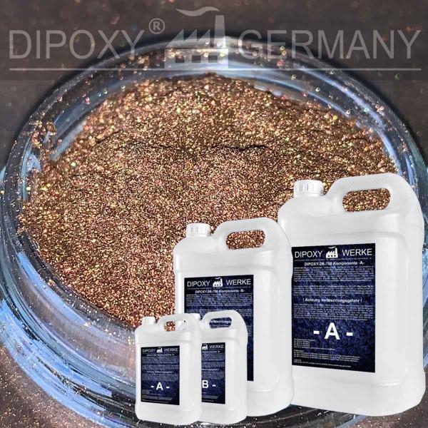 Epoxidharz +10g Effekt-Pigment-Braun 01Gießharz Epoxy Tisch Boden Brown
