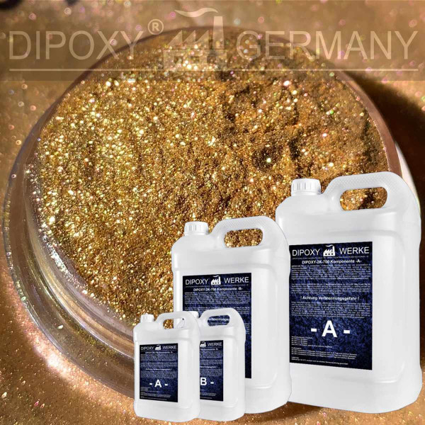 Epoxy Resin + 10g Effect-Pigment-Gold 03 resin Epoxy Table Floor Gold