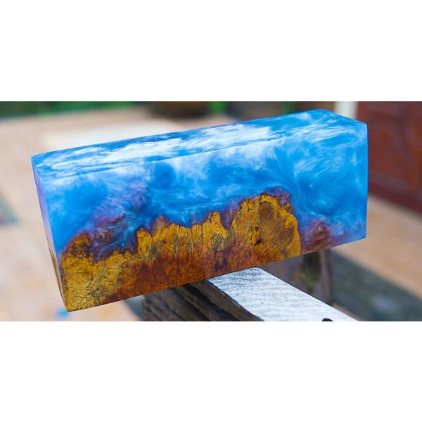 Résine Époxy Clair Epoxy Epoxydharz Epoxy Stratification 0,75kg + 10g 03 Bleu