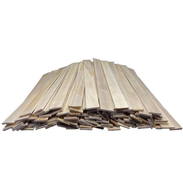 Wooden Spatulas Stirring Sticks 30 cm for Mixing Epoxy, Paints, etc. Craft Wood