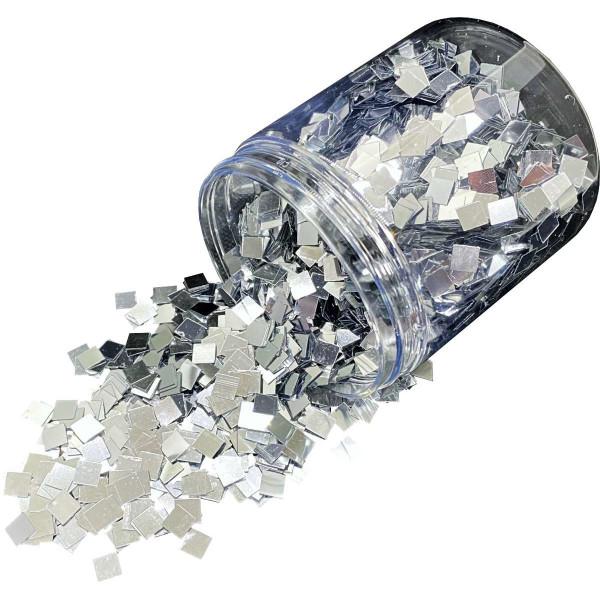 Dipoxy Grobes Glitter 6x6mm Silber