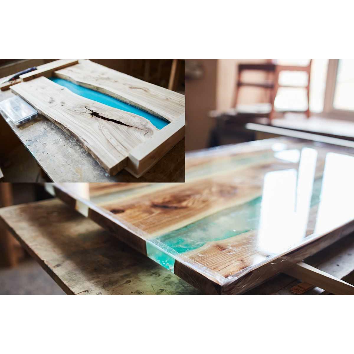 10,5kg Epoxidharz+140g 01Blau Gießharz Epoxy Tisch Boden Beton Bodenbeschichtung
