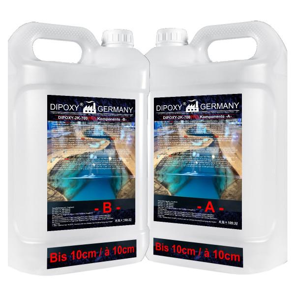 52,8 KG Epoxy Resin Crystal Clear Casting 2 K Resin+Harder 0,1 -5cm max 10cm